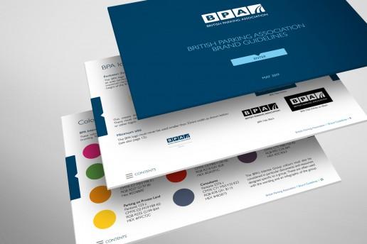 British Parking Association Interactive Brand Guidelines Design