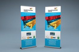 Gamification Europe Pull Up Banner Branding Design
