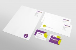 Ingenio Technologies Stationery Branding Design