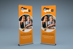 On The Spot Accountants Branding Pull Up Banner Design