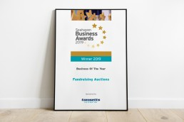 Seahaven Business Awards Certificate Design