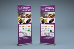 Sussex Food & Drink Awards Pull Up Banner Design and Branding