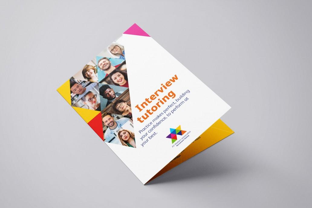 Ali Waters Recruitment leaflet design