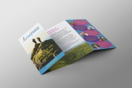 Charity leaflet design and branding Surrey Sussex