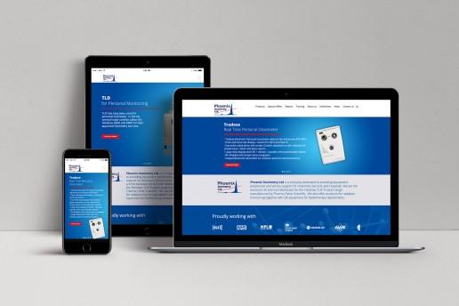Phoenix Dosimetry website design Surrey