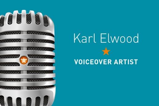 Brand Logo Design Karl Elwood Voiceover Artist