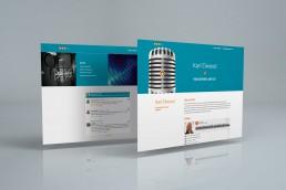 Branded website design Karl Elwood Voiceover Artist