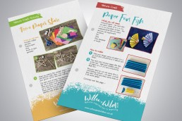 Willow & Wild Box Leaflet Design